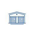 warehouses line icon concept warehouses flat vector image vector image