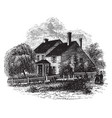 washingtons headquarters at brandywine vintage vector image vector image