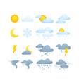 weather condition sunny rainy cloudy vector image