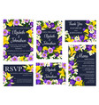 wedding floral invitations and greetings vector image vector image