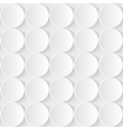 White Paper Seamless Pattern from 3d vector image vector image