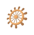 Wooden ship wheel icon cartoon style vector image vector image