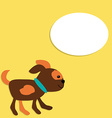 Cute Puppy in Cartoon Style with Place for Your vector image