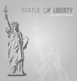 New york silouette symbol vector image