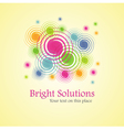 bright solution background from spirals vector image