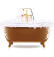 Bathtub With Foam vector image