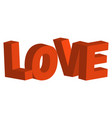 3d letters in word love concept of vector image vector image