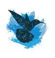a night sky colibri print vector image vector image