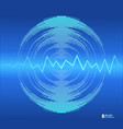 abstract background with neon dynamic wave on blue vector image