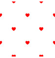 abstract simple seamless pattern with hearts eps10 vector image vector image