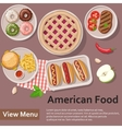 American food Fast food Flat Lay Style vector image vector image