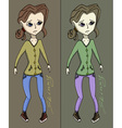Anorexia girl vector image vector image