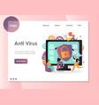 Anti virus website landing page design