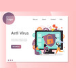 anti virus website landing page design vector image