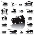 Artillery set vector image vector image