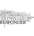 autoresponder improvements text word cloud concept vector image vector image