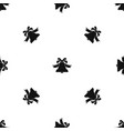 bell pattern seamless black vector image