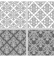 Black and white seamless ethnic pattern vector image vector image