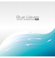 Blue waves design vector image vector image