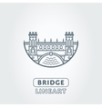 bridge and river symbol vector image vector image