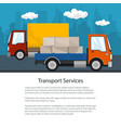 brochure of road transport and logistics vector image