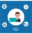Call center and technical service design vector image vector image