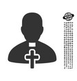 catholic priest icon with job bonus vector image vector image