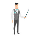 caucasian groom holding pointer stick vector image vector image