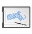 clipboard massachusetts map vector image vector image
