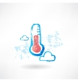 Cloud thermometer grunge icon vector image vector image