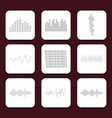 color logo equalizer icons set vector image