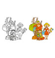 coloring humorous caricature characters vector image vector image
