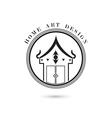 Creative home icon logo design vector image vector image