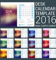Desk Calendar for 2016 Year Stationery Design vector image vector image
