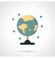 Earth model globe flat color icon vector image vector image