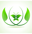 Eco butterfly between the leaf vector image vector image