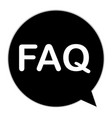 faq icon on white background flat style faq vector image vector image