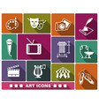 flat art icons with shadow vector image vector image