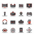 flat icons for virtual reality innovation vector image vector image