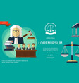 flat judicial system template vector image vector image