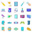gadget icons set cartoon style vector image