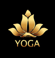 gold lotus flower logo vector image vector image