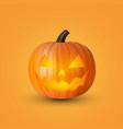 halloween pumpkin with lighting inside vector image