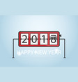 happy new year 2018 flip clock concept vector image vector image