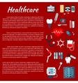 Healthcare medical infographic leaflet vector image vector image