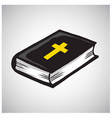 holy bible book catholic christian cross vector image