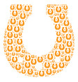 horseshoe icon figure vector image