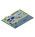 Isometric Road Highway Infrastructure vector image vector image