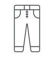 jeans thin line icon clothes and fashion vector image