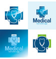 medical icon and logo vector image